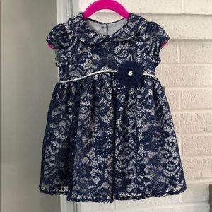 Marmellata 2pc lace Navy glitter dress